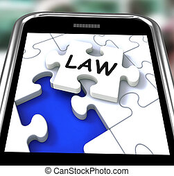 Law Smartphone Showing Legal Information And Legislation On...