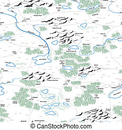 Seamless background of painted map. - Seamless background of...