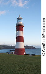 Smeaton's Tower Lighthouse, Plymouth Hoe, Plymouth, Devon,...
