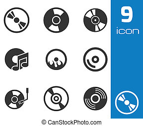 Vector black academic cap icons set