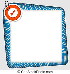 vector frame for inserting text with check box