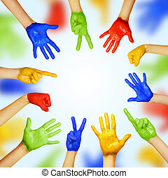 hands of different colors cultural and ethnic diversity