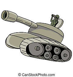 Military Tank - An image of a military tank.