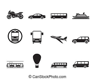 Travel and transportation of peopl - Silhouette Travel and...