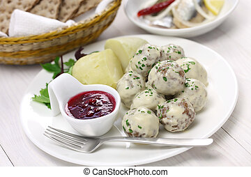 Swedish meatballs, svenska kottbull - Swedish meatballs with...