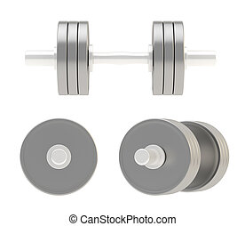 Adjustable metal dumbbell isolated - Adjustable weight metal...