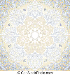 Damask Seamless With Baroque Ornaments.