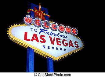 Las Vegas - Welcome to Las Vegas sign isolated