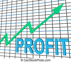 Profit Chart Graph Shows Increase Cash Wealth Revenue -...
