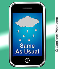 Same As Usual On Phone Means No Change In The Weather - Same...