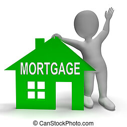 Mortgage House Shows Paying Off Property Debt - Mortgage...