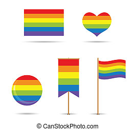 set of gay flags