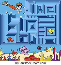 maze - Game for children: find the right way