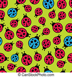 Ladybugs seamless background.