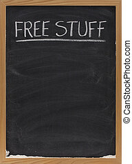 free stuff text on blackboard - free stuff text handwritten...