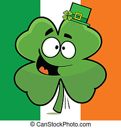 Goofy Shamrock Irish Flag