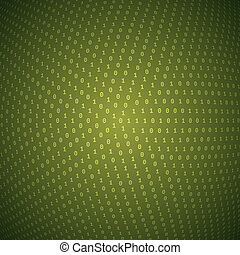Abstract Circular Binary Background - Circular Olive Binary...