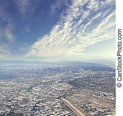 los angeles panorama at daytime