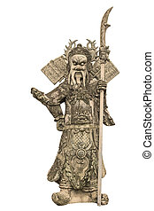 China dolls, statues church door. - China doll carved stone...