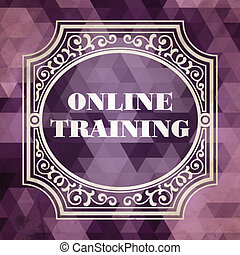 Online Training. Vintage Design Concept.