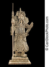 China dolls, statues church door - China doll carved stone...