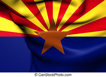 Flag of Arizona, USA. Close Up.