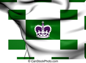 Flag of Charlottetown, Canada. Close Up.