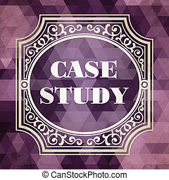 Case Study Concept Vintage Design Background - Case Study...
