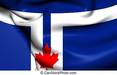 Flag of Toronto, Canada.