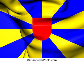 Flag of West Flanders, Belgium. Close Up.