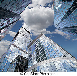 Skyscrapers of the International Business Center City,...