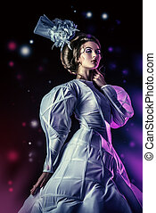 ice queen - Portrait of a beautiful fashion model in the...