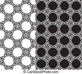 Starry Elements Seamless Pattern