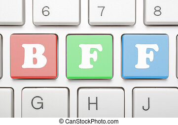 Best friend forever key on keyboard