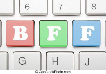 Best friend forever key on keyboard