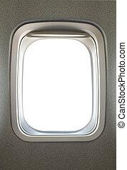 Airplane window - Empty airplane glass window