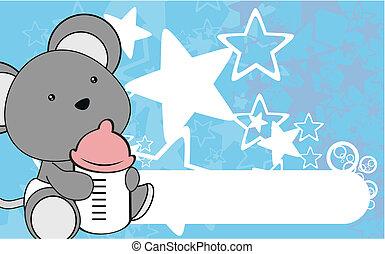 mouse baby cartoon wallpaper vector
