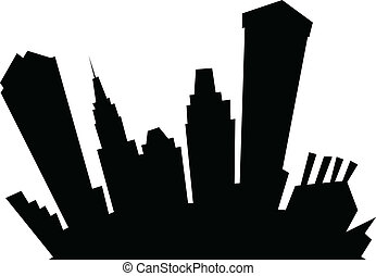 Cartoon Baltimore - Cartoon skyline silhouette of the city...