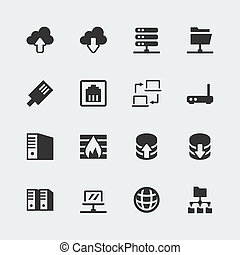 Vector network mini icons set