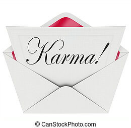 Karma Invitation Letter Message Open Envelope Good News Luck...