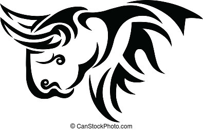 Bison tribal art vector picture