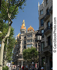 Barcelona - BARCELONA, SPAIN - JUNE 20 , 2008: Cases Pons in...