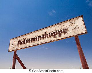 fantasma,  kolmannskuppe, pueblo, señales