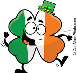Cartoon Dancing Irish Shamrock - Dancing cartoon shamrock...