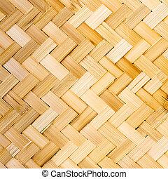 Tailandês, nativo, estilo, bambu, tecer