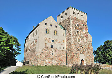 Turku castle - Medieval castle in the town of Turku, Finland...