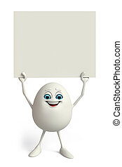 Happy Egg with sign