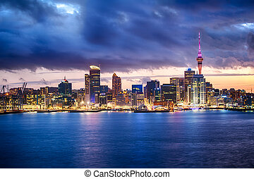 Auckland skyline - Skyline photo of the biggest city in the...