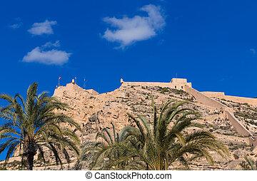 Alicante Santa Barbara castle in Mediterranean spain...