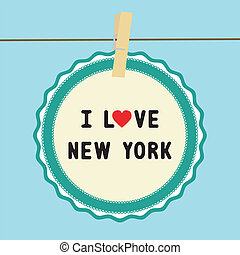 I lOVE NEW YORK - I LOVE NEW YORK letter Card for decoration...